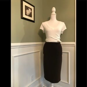 PRADA Women's Brown Pencil Skirt Size IT 44 US 8